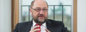 22 FEB 2016, BERLIN/GERMANY:Martin Schulz, SPD, Praesident des Europaeischen Parlamentes, waehrend einem Interview, Spiegel HauptstadtbueroIMAGE: 20160222-01-024